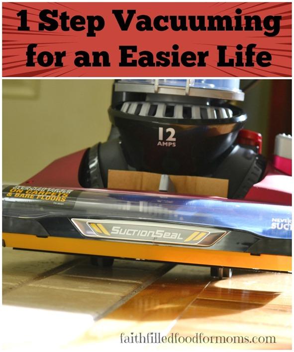1 Step Vacuuming for an Easier Life #EurekaPower