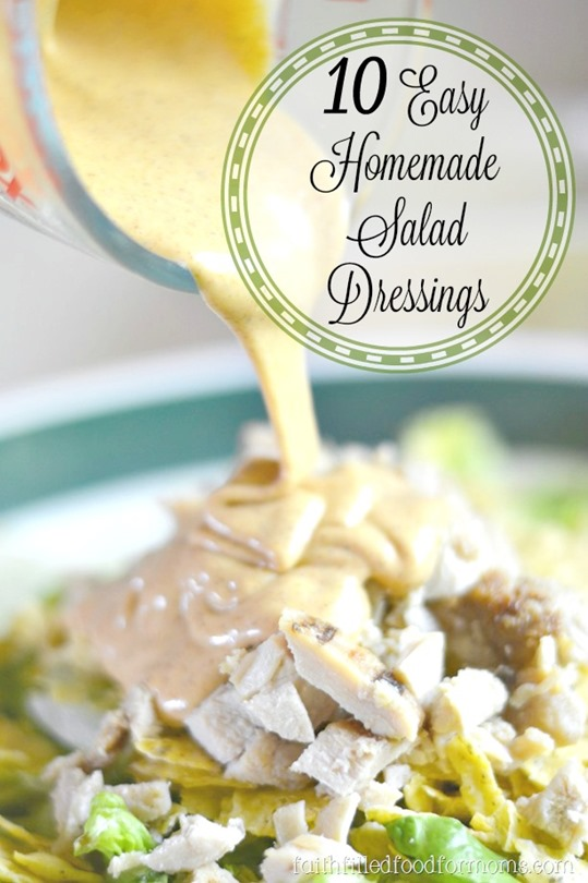 10 Easy Salad Dressings You can Make at Home