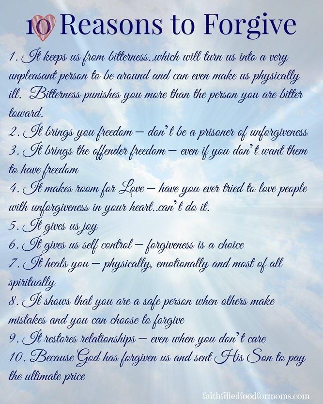 10 Reasons to Forgive 1