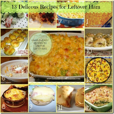 13 delicous recipes for leftover ham