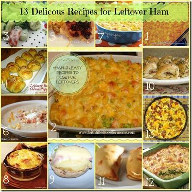 13 delicous recipes for leftover ham
