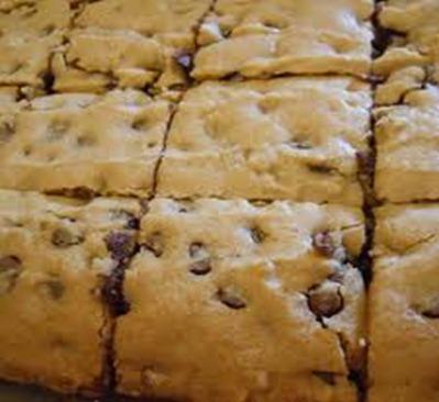 Chocolate Chip Blondies (Brownies)