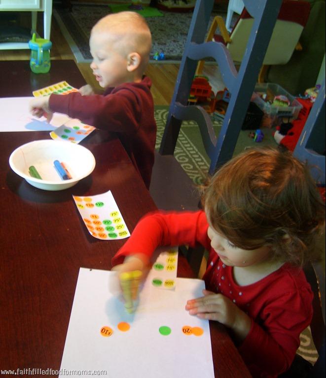 Preschool Learning Activity!  Really…