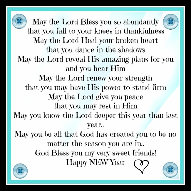 New year blessings clip art