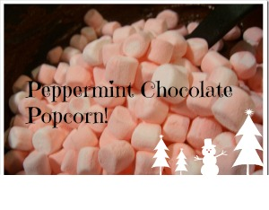 Peppermint Chocolate Popcorn