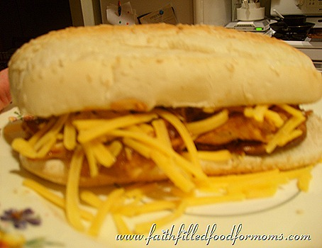 Crockpot BBQ Chicken Sandwich