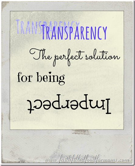 transparency the perfect solution for being imperfect
