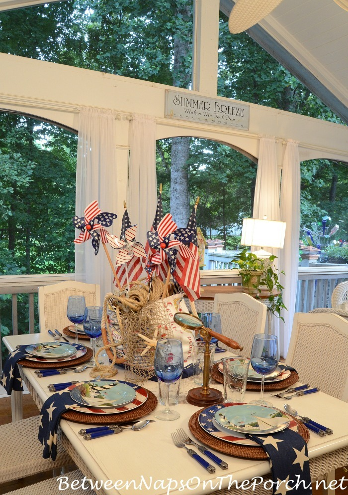 4th of July Nautical Table Scape