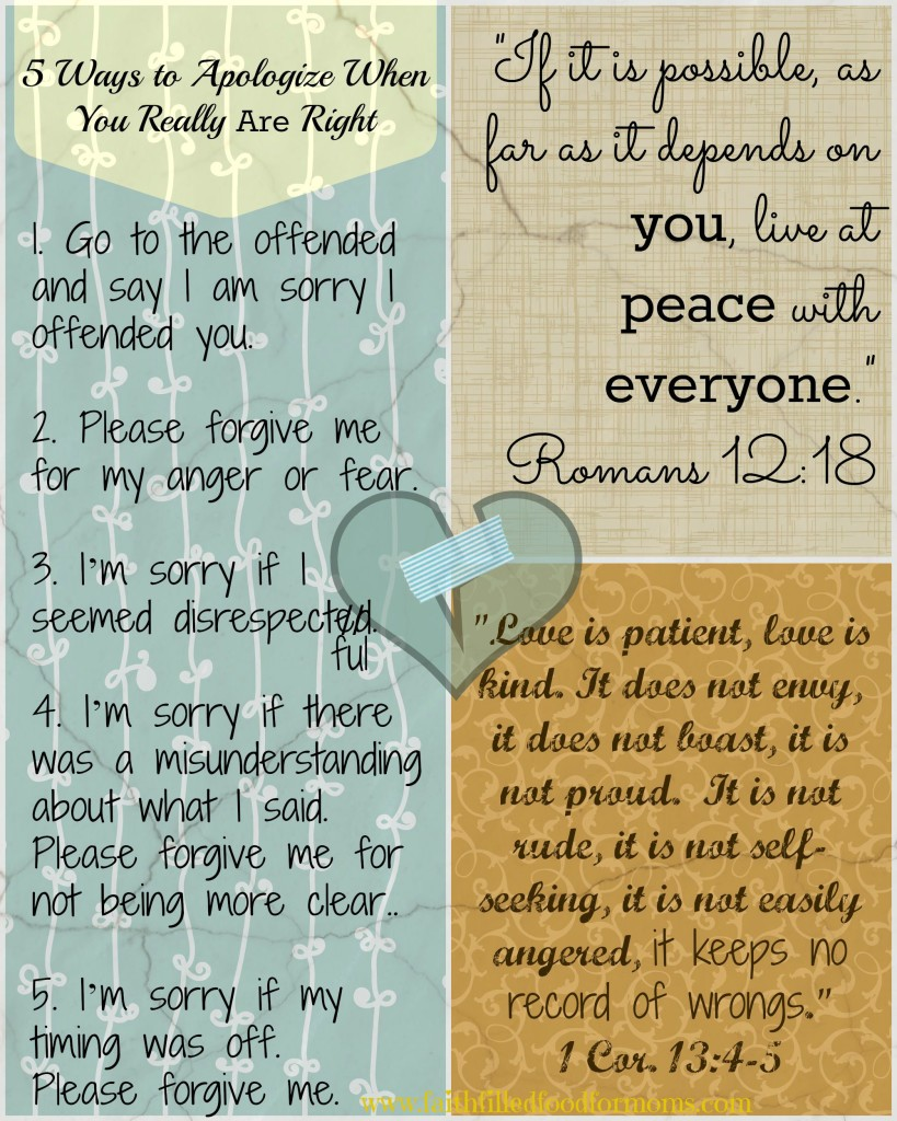 5 Ways to Apologize When You are Right