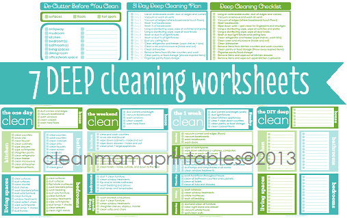 Spring Cleaning My Home and My Heart – Sample Spring Cleaning Checklist