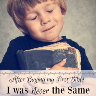 Embarrassed and Alone I bought my First Bible