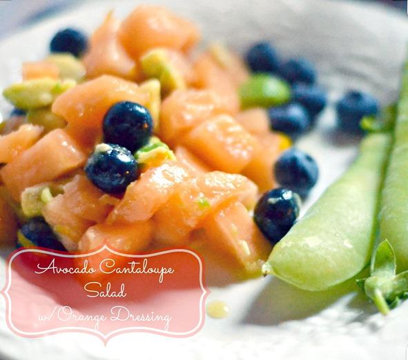 Avocado Cantaloupe Salad