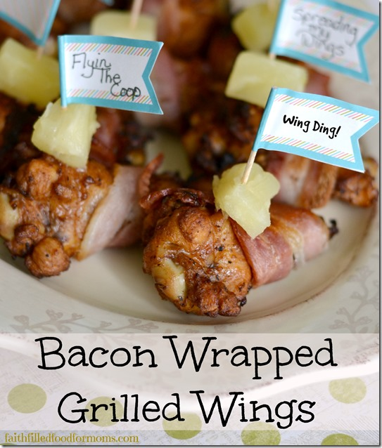 Bacon Wrapped Grilled Wings #ad
