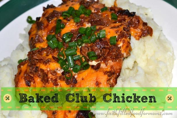 Baked Club Chicken