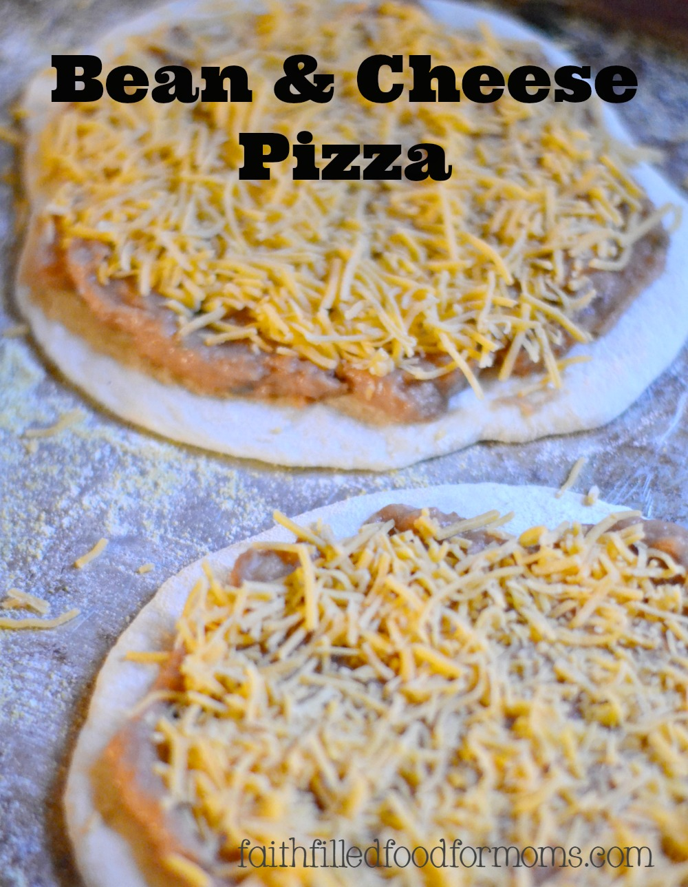 Bean and Cheese Pizza