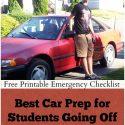 Best Car Prep for College Student w/ Emergency Checklist