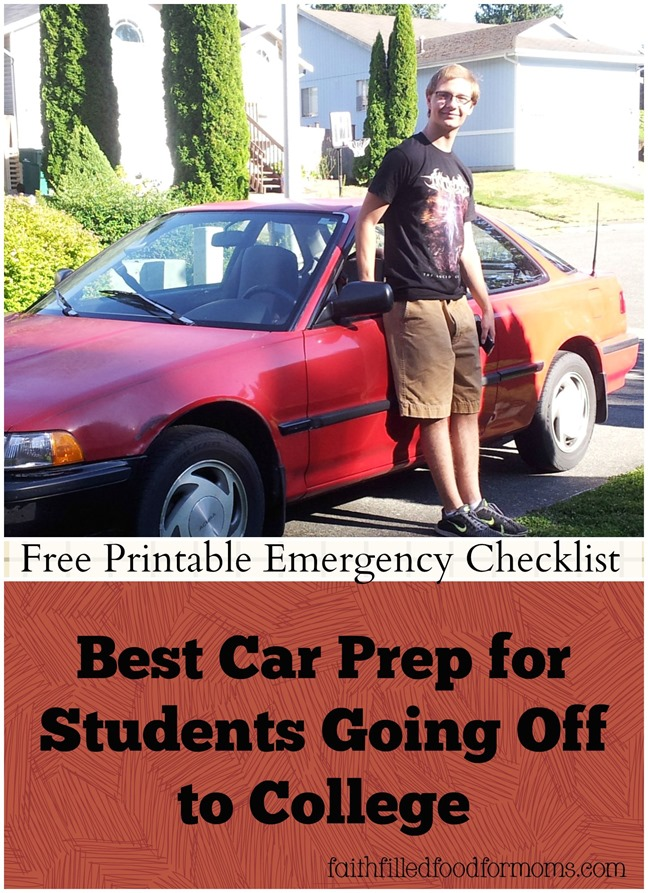 Best Car Prep for College Student w/ Emergency Checklist