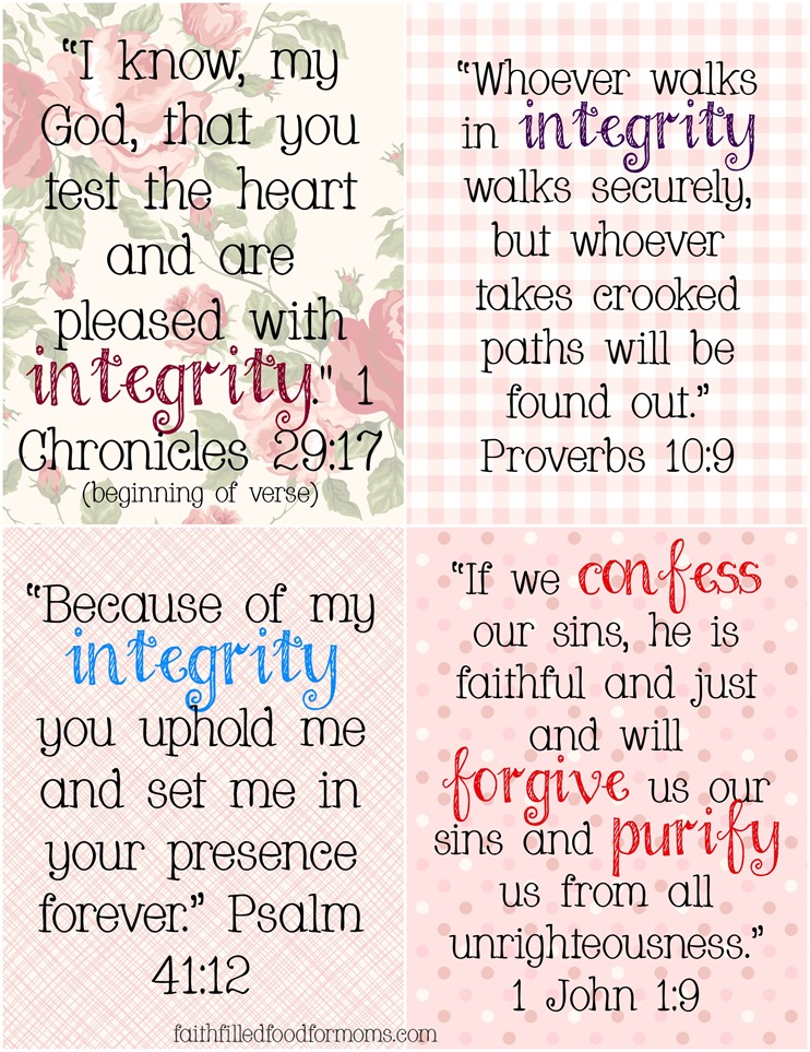 Bible Scriptures on Integrity