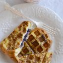Blueberry Stuffed French Toast Waffles
