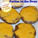 COOKING YOUR BURGERS IN THE OVEN! See how to cook frozen burgers in the oven!