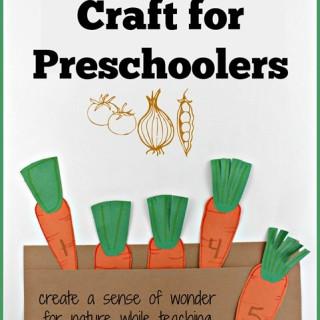 Carrot Garden Craft for Preschoolers