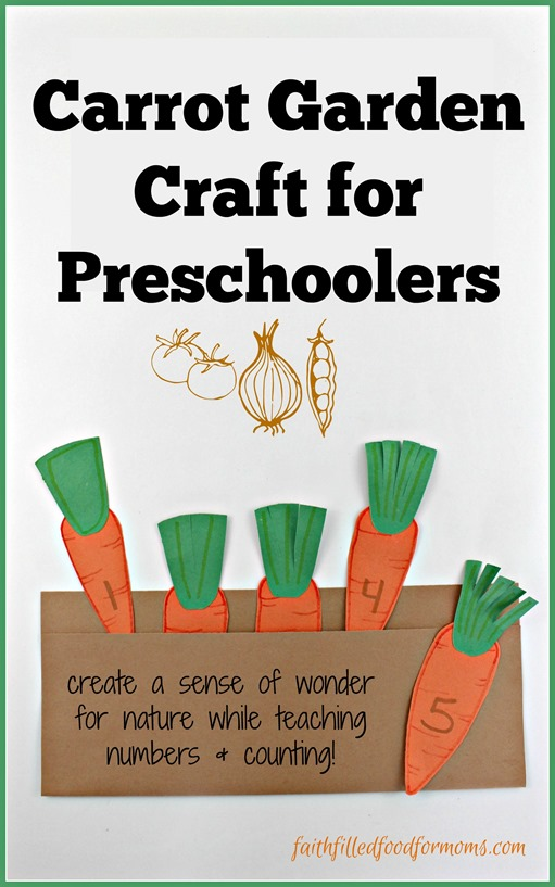 Carrot Garden Craft for Preschoolers