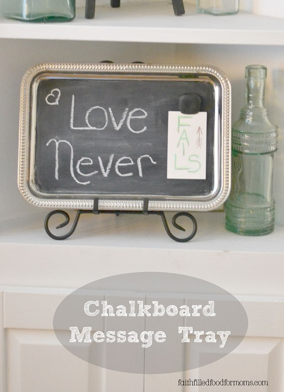 Chalkboard Message Tray
