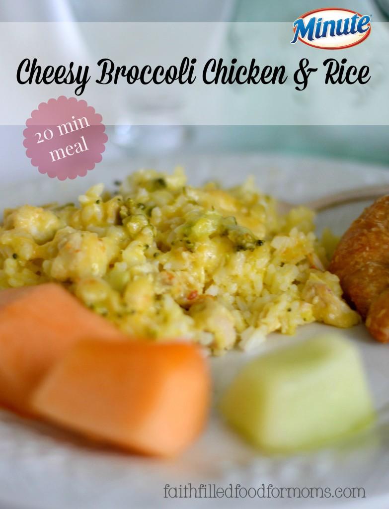 Cheesy Broccoli Chicken and Rice