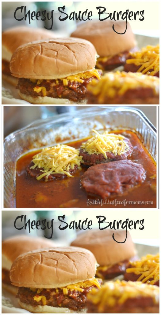 Cheesy Sauce Burgers made in the oven! Super easy dinner!