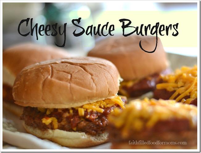 Cheesy Sauce Burgers