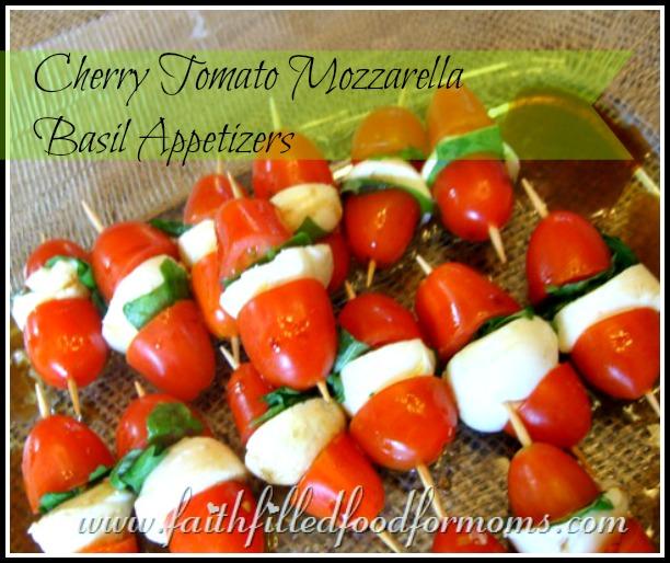 Cherry Tomato Mozzerella Basil Appetizer