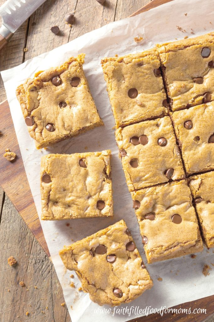 Chocolate Chip Blondies Brownies