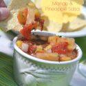 Chunky Mexican Peach Mango Pineapple Salsa