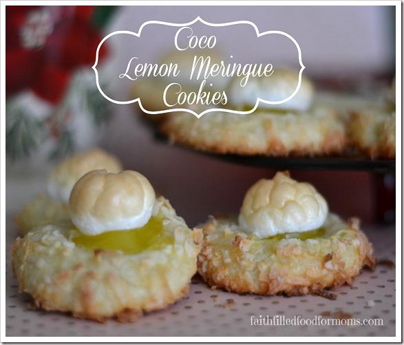 Coco Lemon Meringue Cookies #shop