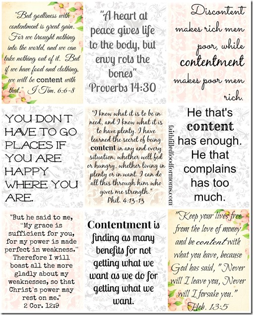 Contentment Cards