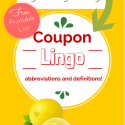 Coupon Lingo, Abbreviations and Definitions Printable
