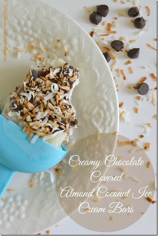 Creamy Chhocolate Covered Almond Coconut Ice Cream Bars #SilkAlmondBlends #shop
