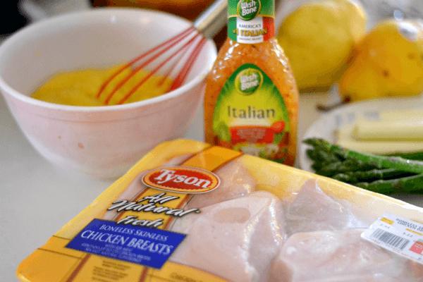 Creamy Crockpot Italian Stuffed Chicken - Ingredients