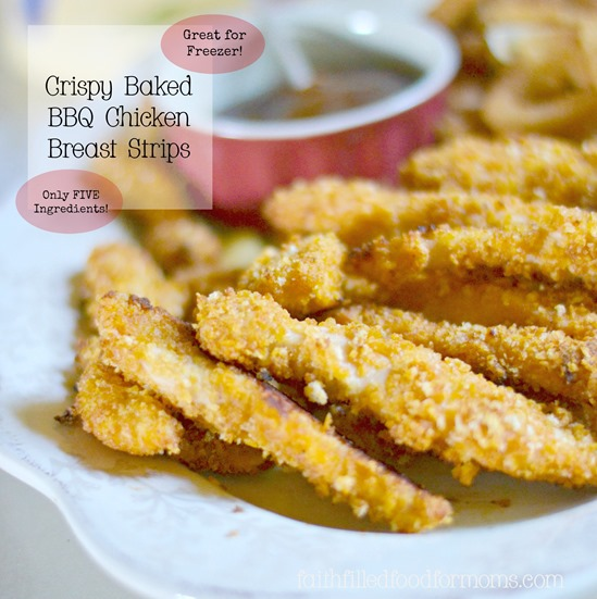 Crispy Baked BBQ Chicken Breast Strips 5
