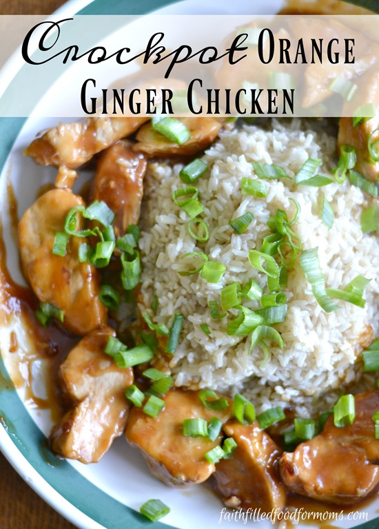 Crockpot Orange Ginger Chicken ~ Budget Friendly Meals