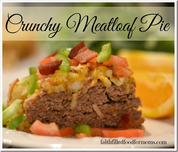 crunchy meatloaf pie with ore-ida hashbrowns