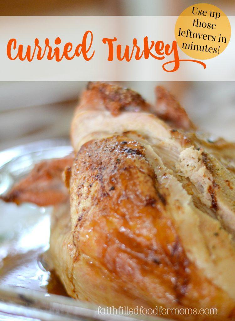 Curried Turkey ~ Leftover Turkey recipe