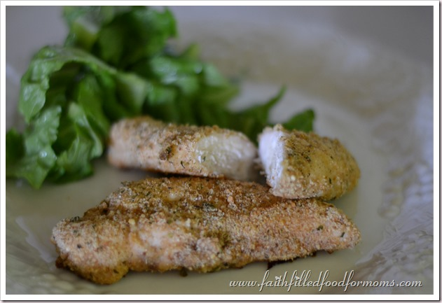 Homemade Baked Chicken Strips recipe