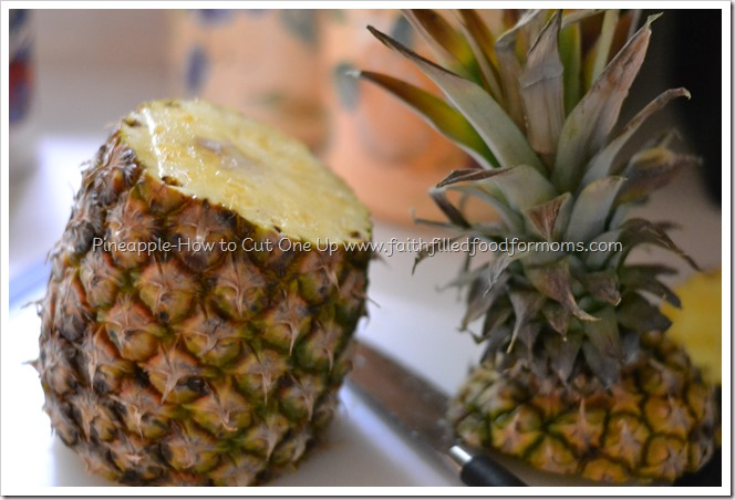 Pineapple - How to Cut One up