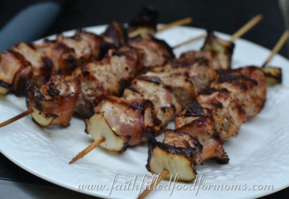 Pork Ranch and Bacon Shish Kabobs