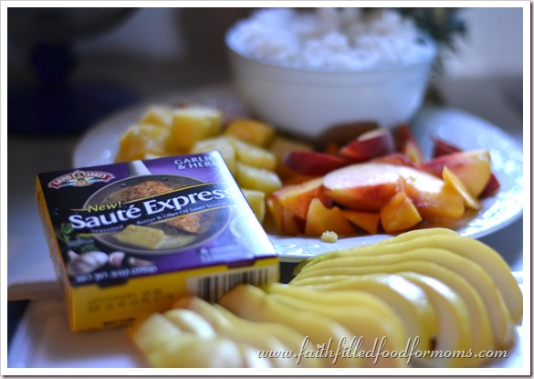 Fruit and Savory Fried Rice #SauteExpress #shop