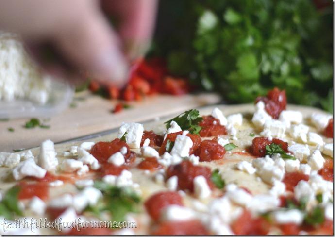 Feta and Fire Roasted Tomato Focaccia Bread #dinnerdone