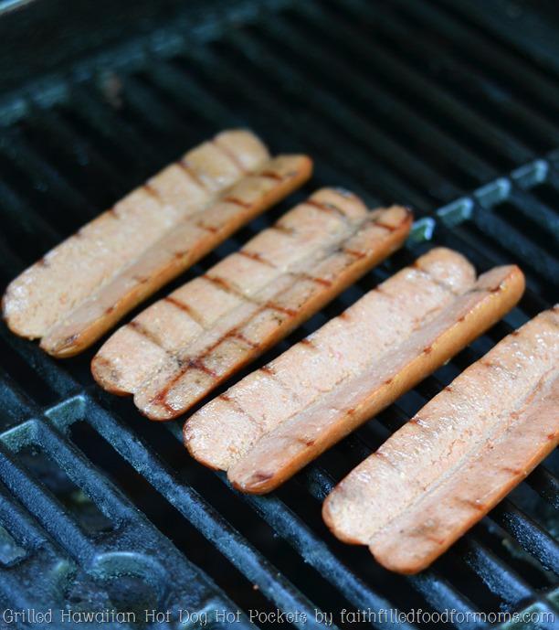 Grilled Hawaiian Hot Dog Hot Pockets