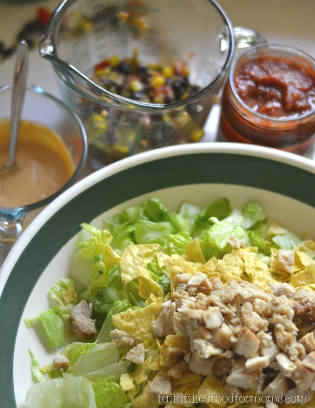Taco Chicken Salad with Southwestern Salsa