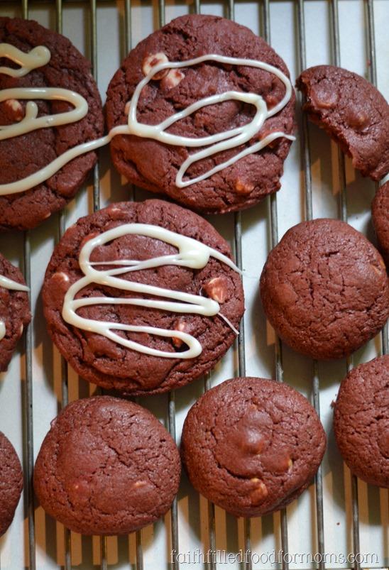 Homemade Red Velvet Chip Cookies